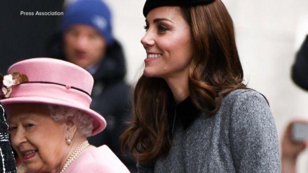 The Queen and Duchess Kate step out at King's College