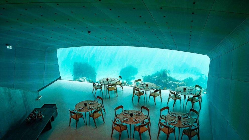 Dine under the icy sea at Europe's first underwater restaurant