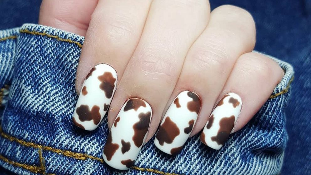 From Ariana Grande to Kendall Jenner, cow print nails are having a major 'moo-ment'