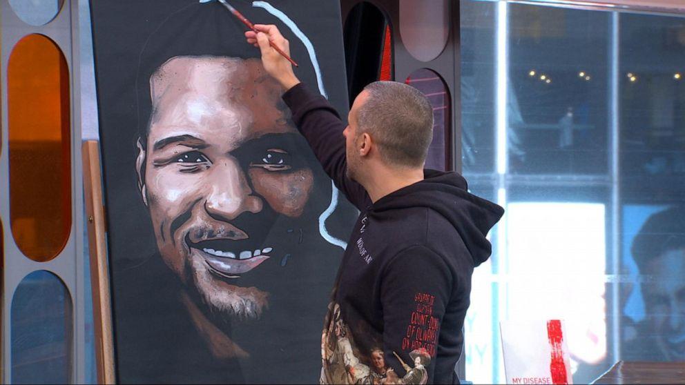 Extrem Speed painter Matteo Charles demonstrates Video - ABC News TD69