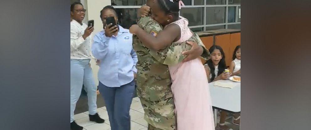 VIDEO: Deployed dad surprises his daughter at daddy-daughter dance