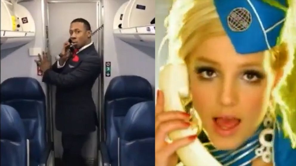 VIDEO: Flight attendant epically recreates Britney Spears' 'Toxic' music video