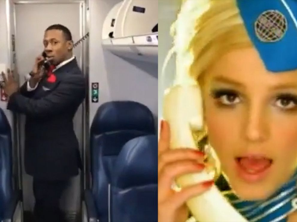 VIDEO: Flight attendant epically recreates Britney Spears Toxic music video