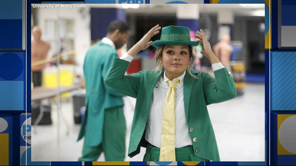 University of Notre Dame announces first female school mascot