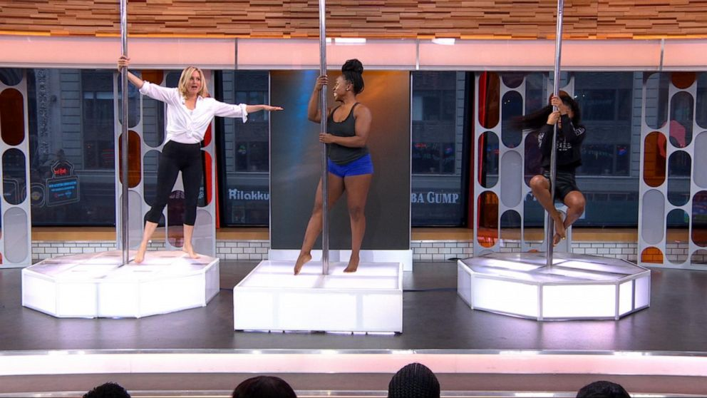 Keke and Ali try pole dancing with Dalijah Franklin