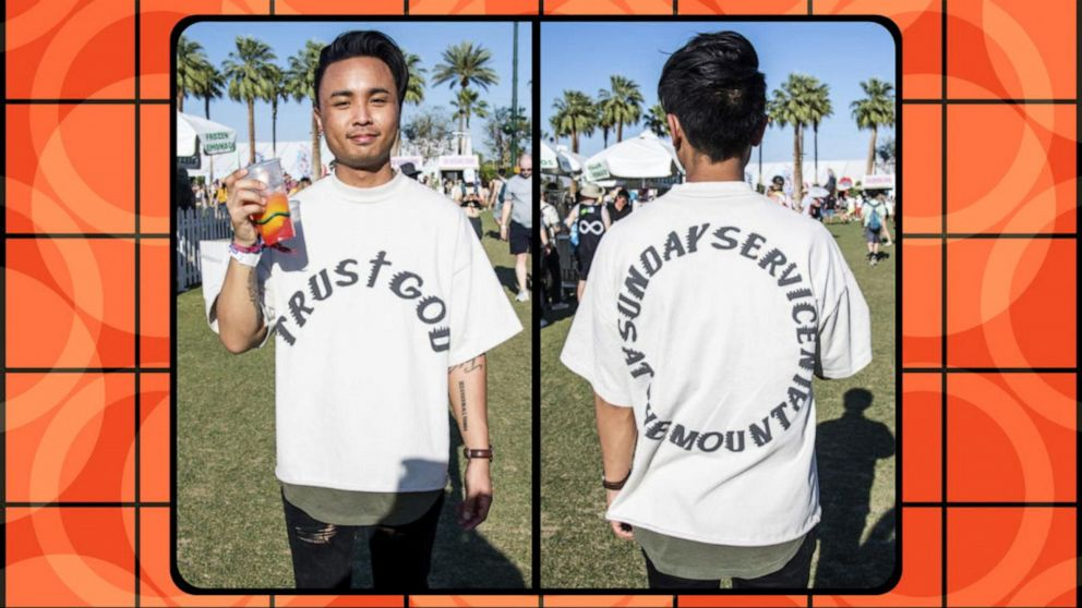 What's up with Kanye's Coachella church clothes?