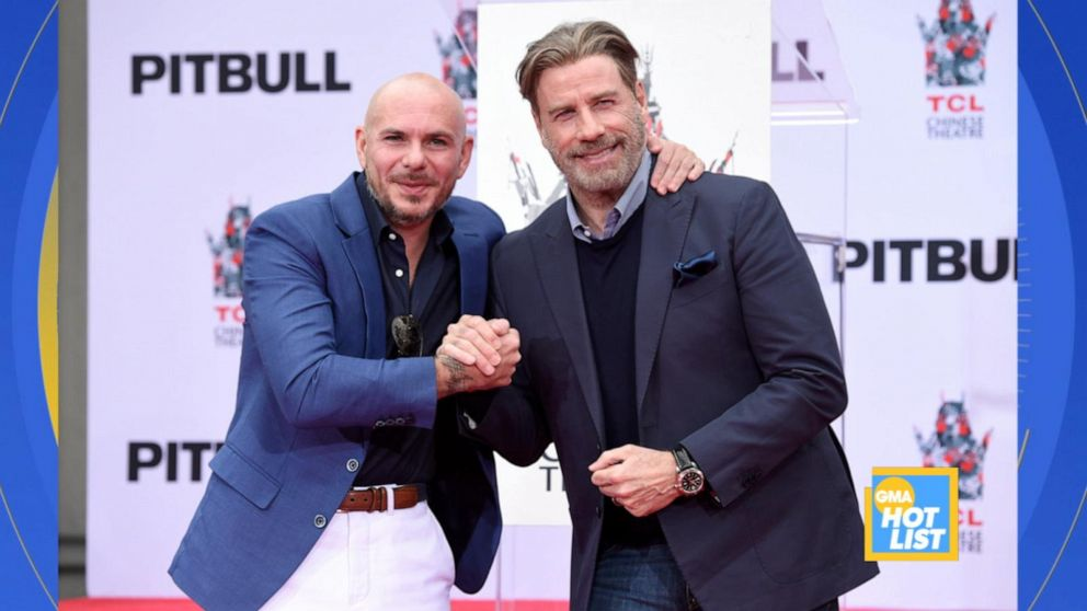'GMA' Hot List: Pitbull responds to John Travolta dancing to his music