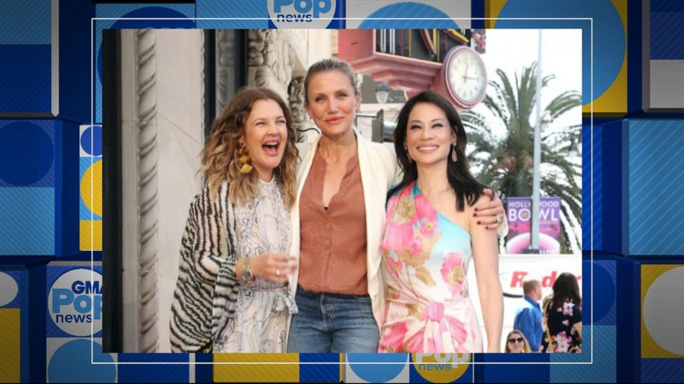 'Charlie's Angels' stars Drew, Cameron and Lucy reunite