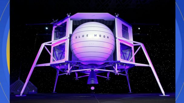 Jeff Bezos unveils spaceship he hopes to put on the moon