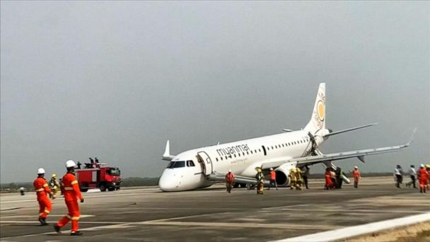 Plane makes emergency landing at Myanmar airport