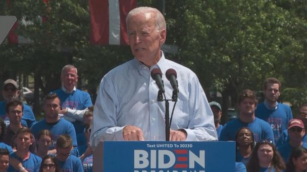 Joe Biden holding 1st major campaign rally in a key battleground state