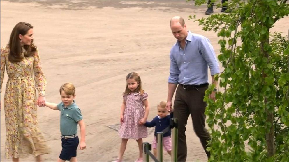Duchess Kate and her kids visit garden she designed