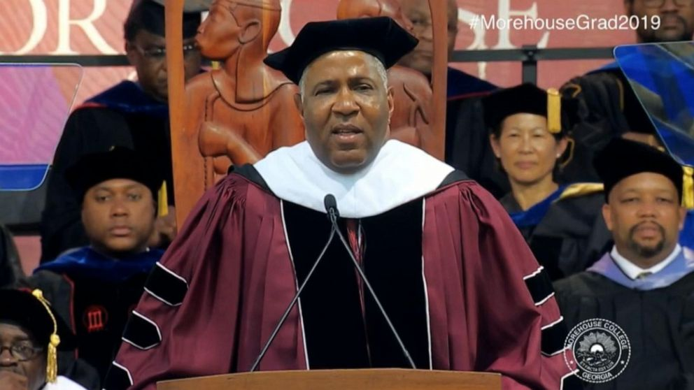 Commencement speaker pledges to pay off students' loans