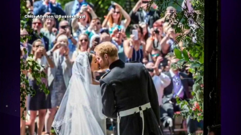 Prince Harry and Meghan share behind-the-scenes wedding photos