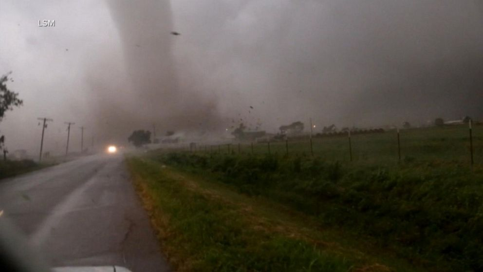 18 reported tornadoes in 4 states as flooding and severe storms head east