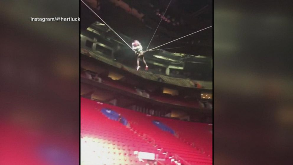 Pink's daughter shows off acrobatics during stadium tour