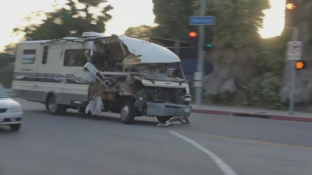 RV driver leads police on high-speed chase
