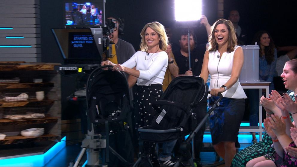 Amy Robach and Paula Faris' stroller surprise