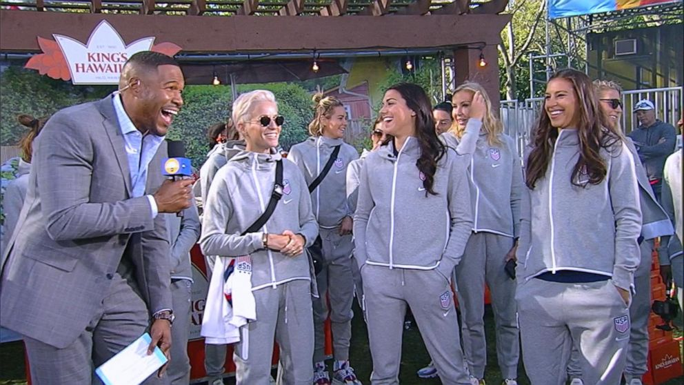 Women's national soccer team on the road to the World Cup on 'GMA'