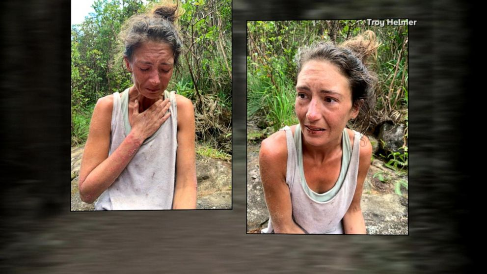 Yoga teacher Amanda Eller after rescue from Hawaii forest