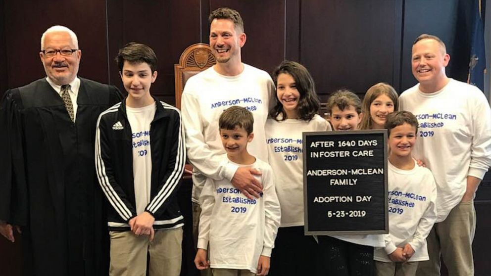 Dads adopt 6 siblings who spent nearly 5 years in foster care
