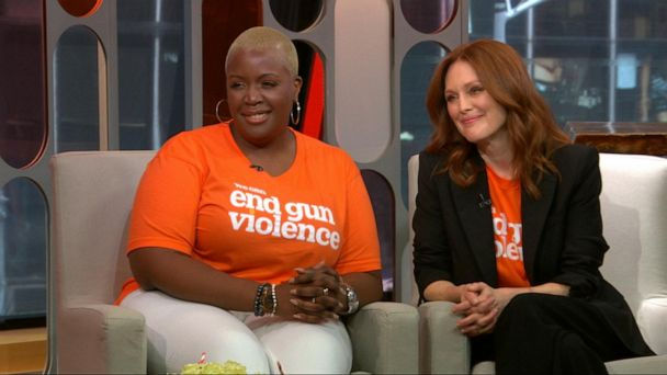 Julianne Moore and Cleopatra Cowley on ending gun violence