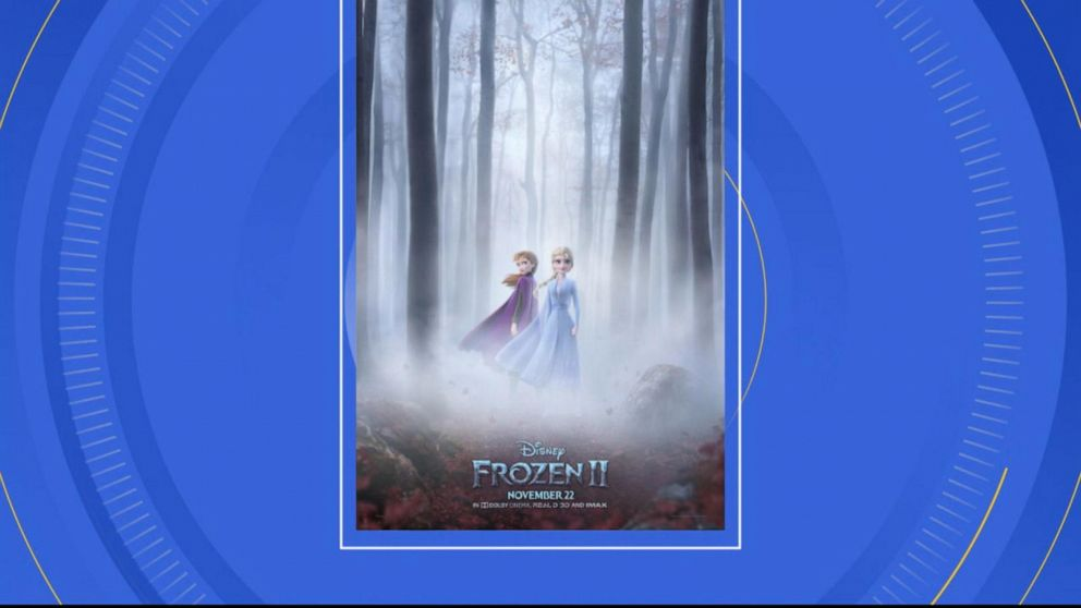 Anna, Elsa featured in mysterious movie poster for 'Frozen 2'