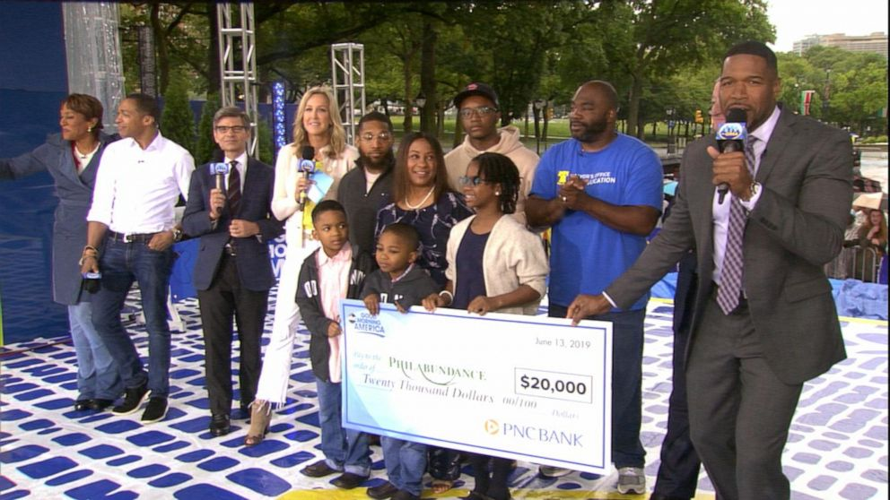 Food bank Philabundance surprised with $20K check, live on 'GMA'