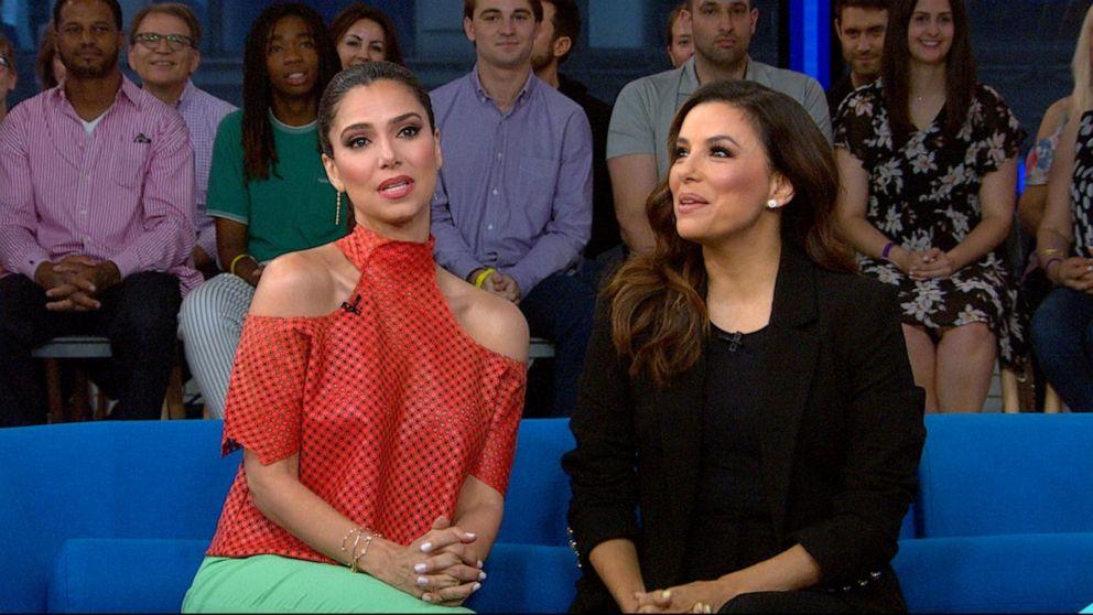 Eva Longoria And Roselyn Sanchez Talk Grand Hotel Video Abc News