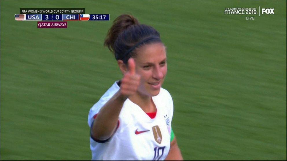 US soccer star defends celebrations after 2nd win