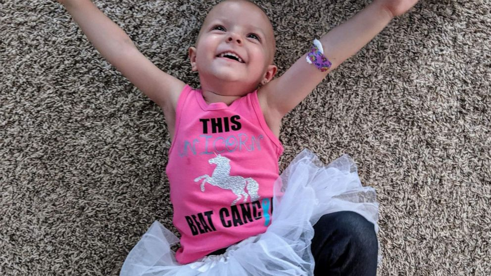 2 Year Old Who Fought Rare Ovarian Cancer Is Now Cancer Free Video Abc News