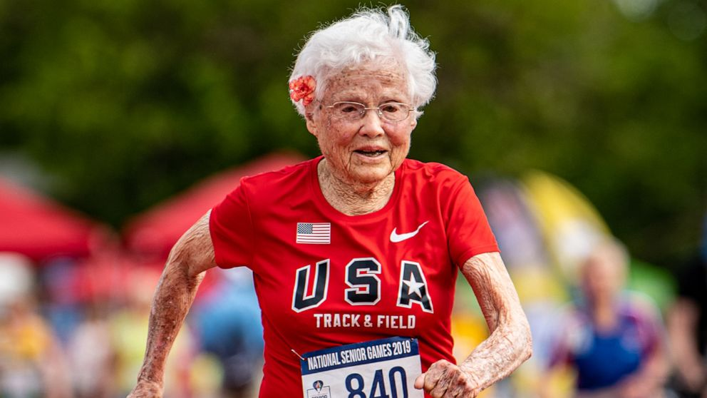 103-year-old nicknamed the 'Hurricane' wins yet another gold in 100-meter dash