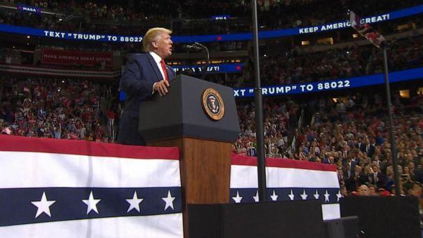 Trump kicks off 2020 with rally, new slogan