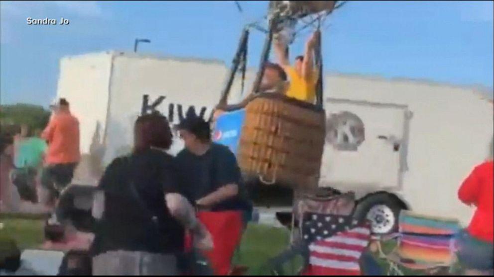Passenger describes rogue hot air balloon crash
