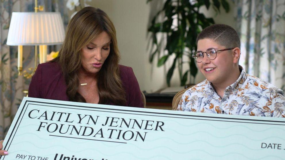 Caitlyn Jenner surprises transgender student with scholarship