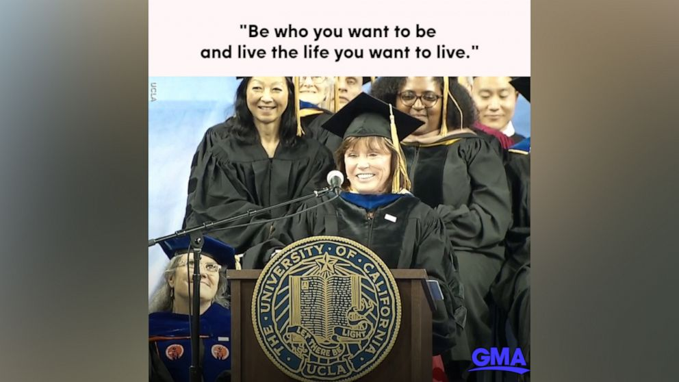1st mom in space shares advice during commencement speech