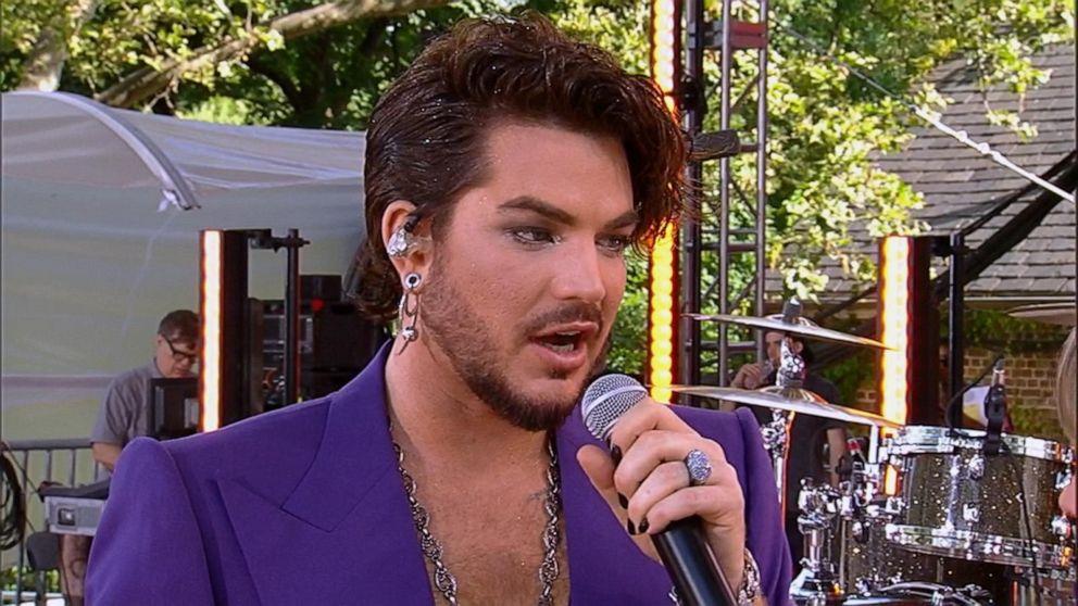 Catching up with Adam Lambert live on 'GMA'