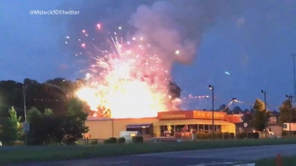 Fireworks go up in smoke outside store