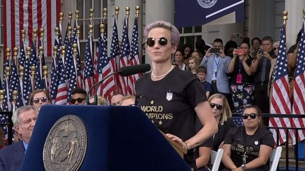 Megan Rapinoe says 'it's our responsibility to make this world a better place'