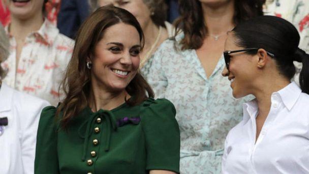 Duchesses Kate and Meghan shine at Wimbledon women's final
