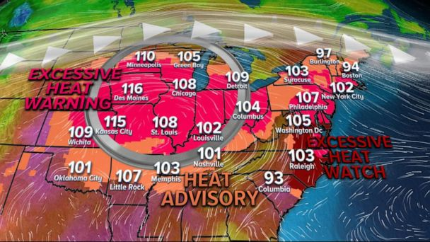 Excessive heat warnings in effect around US