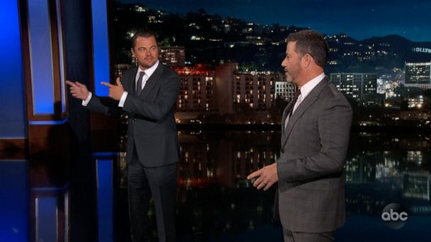 'Once Upon a Time in Hollywood' stars crash Jimmy Kimmel's set at movie premiere