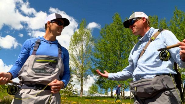Rob Marciano learns how to fly fish