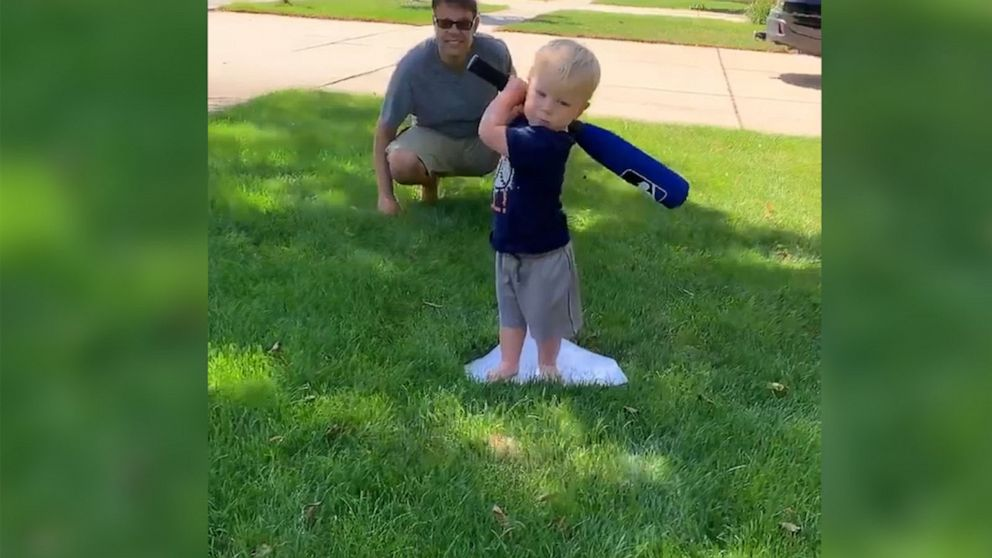 Little baseball player takes running 'home' literally and it's the cutest thing
