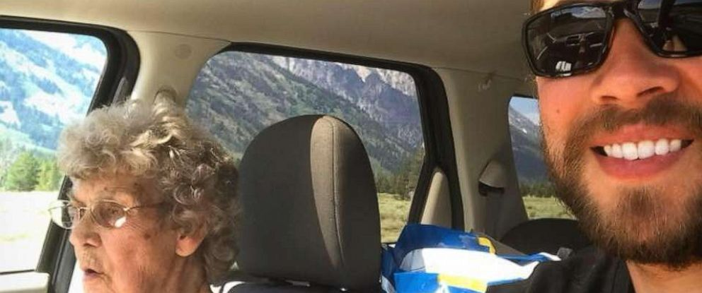 PHOTO: Brad Ryan and his grandmother, Joy Ryan are on a road trip to see every National Park.