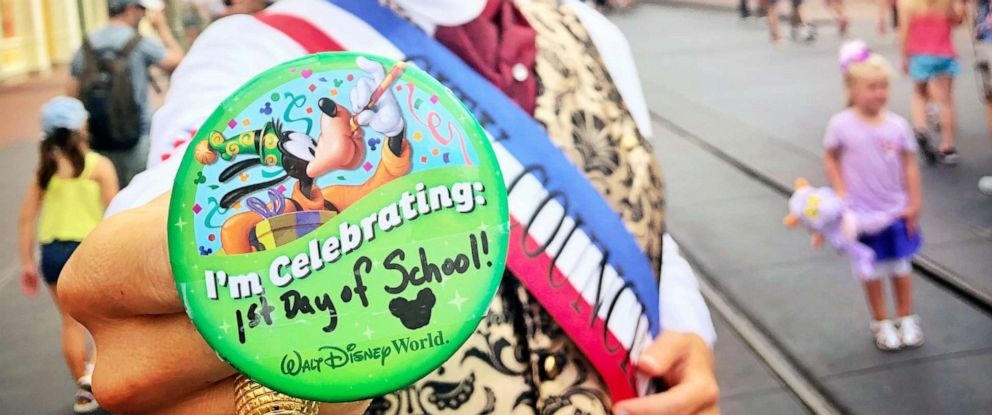 PHOTO: A mom dropped off her kids at their first day of school and headed to Disney World.