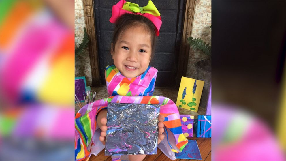 Girl born without arms creates colorful paintings all by herself. Here's how she wants to help others.