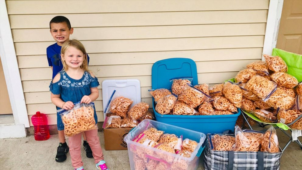 1st grader sells homemade chips to buy school supplies for classmates