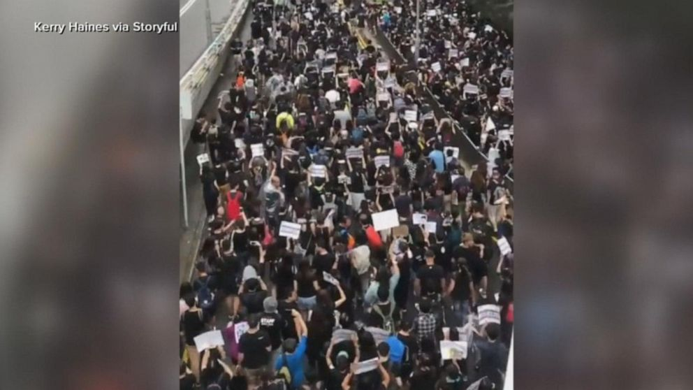 Thousands of people in Hong Kong out on the streets calling for changes