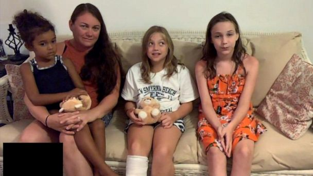 Brave 9-year-old reveals terrifying moment when shark clamped down on her leg